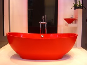 Castello Red Bath And Basin