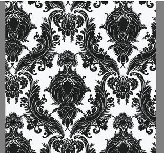 Black-retro-damask-wallpaper