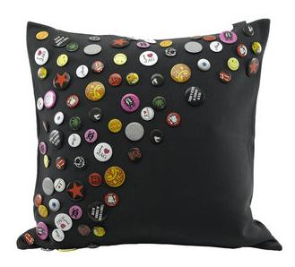 Keeping it Realtor: Fab Rock n Roll Badge Cushion