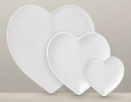 Heart-plates & Keeping it Realtor: Three Heart Shaped Plates