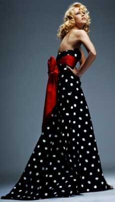 80's prom dresses - Totally 80s Polka Dot Prom Dress