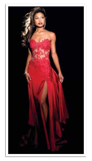 Red Prom Dresses -  Celebrity Inspired Satin Ruched Evening Gown